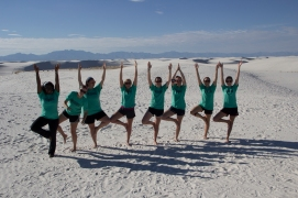 I taught my breaktrip how to do Tree Pose in El Paso haha