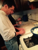 Dad is only good at rolling dough.